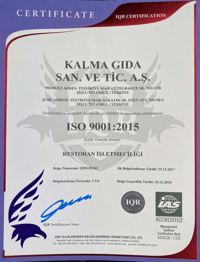 Döner Plus   ISO 9001:2015